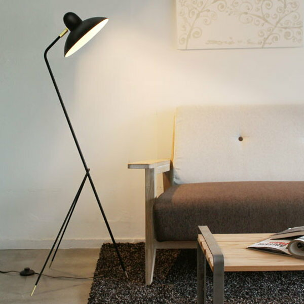 フロアライトフロアランプライトランプおしゃれ照明間接照明スチール真鍮40WE-17白熱レフ球LED電球使用可スイッチ付重さ1.3kgシェード角度調整可リビング寝室ソファ横ブラック送料無料Arlesfloorlamp222-00006