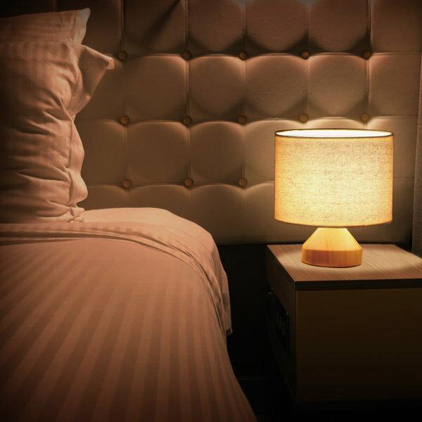 ナイトランプ卓上ライト卓上ランプ照明間接照明おしゃれE-1740W白熱ミニ球LED電球寝室リビングベッドサイド天然木ラバー材ファブリックスチール直径20cm高さ14cm0.55kg送料無料Montonightlamp222-00008