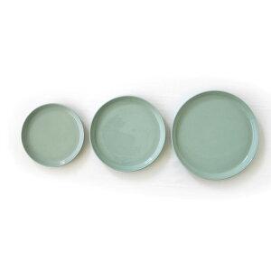 皿お皿プレートパスタピザハンバーガーホワイトグレイピンクターコイズブルーライトブルーブラックせっ器マット手作りおしゃれカラフル送料無料STONEWAREPLATE210-ISSEIKI261-00018