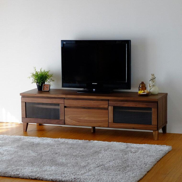 ウォールナット テレビ テレビ台 テレビボード ローボード ウォールナット 木製 FLOCK-2 150 TV (WALNUT) -フロック150テレビボード(ウォールナット)-[ISSEIKI 一生紀 200012]