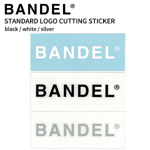 【着後レビューでBANDELグッズ!】BANDEL バンデル スタンダードロゴ カッティングステッカーシール sticker logo 車 バイク 耐水性 クーラーボックス ブラック ホワイト トレーニング アスリート