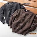 メンズ 紳士 セーター クルーネック mij/エムアイジェイ 日本製ウール100%クルーセーター(1607)【2019 秋冬モデル…