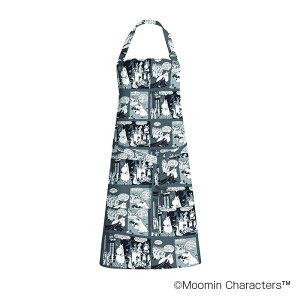 キャラクター エプロン MOOMIN(ムーミン) エプロン カクテルムーミン グレー FLS140051