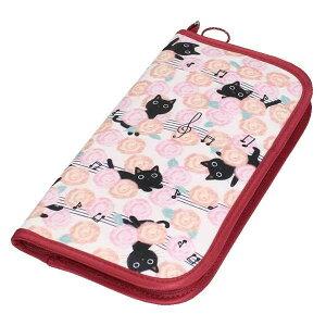 花たま ストラップ付パスポートケース J532HT パスポートカバー 猫柄 ネコ ピンク かわいい トラベルグッズ ※納期約10営業日前後【クリックポスト】メール便【送料無料】【smtb-TD】【saitama】