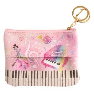 ポケットティッシュ入れ&ポーチ ピアノ&バイオリン ピンク 8540431 小物入れ ティッシュポーチ ティッシュケース