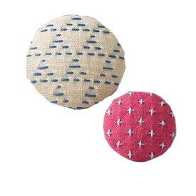 刺繍キット 刺し子(hidamari) 刺し子のブローチセット ベージュ&ピンク 98957 ※納期約10営業日前後