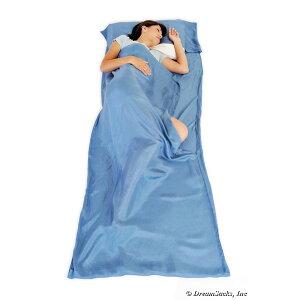 シルク100%コンパクト収納快適寝袋 シルクドリームザック 薄型 軽量【送料無料】