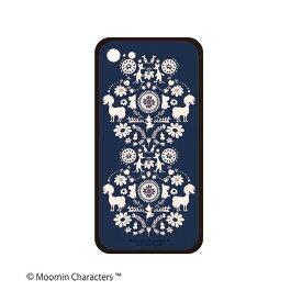 スマホケース iPhoneケース ムーミン ハードガラスケース for iPhone8/7 ブルー ネイビー THE FOLK MM-3279 MOOMIN