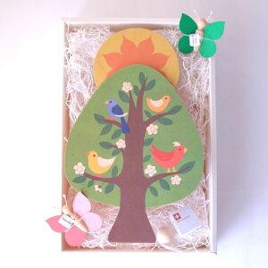 【出産祝い】<キーナ社陽の上オルゴール(スイス) ちょうちょモビールセット>【送料無料】 児童館
