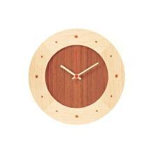 賭け時計・丸(メープル×ウォルナット)