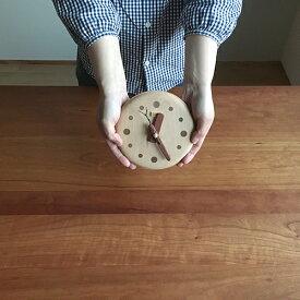 デポー限定 手作り 木の時計 小枝クロック(小) (木製 とけい ウッドクロック 新築祝い 壁掛け時計 置き時計 ギフト インテリア 日本製 国産) 児童館