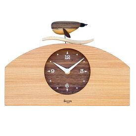 KICORI くじらの時計 k121 (木製 とけい ウッドクロック 新築祝い 壁掛け時計 置き時計 ギフト インテリア 日本製 国産) 児童館