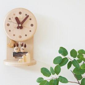 デポー限定 手作り 木の時計 小部屋 うさぎ (木製 とけい ウッドクロック 新築祝い 壁掛け時計 置き時計 ギフト インテリア 日本製 国産) 児童館