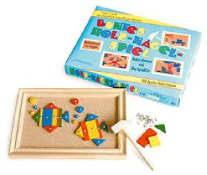 木製パズル とんかち遊び(かたち合わせ パズル ハンマー遊び 木のおもちゃ 木製 ドイツ製) 児童館