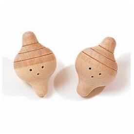 童具館 出産祝い ぽこ(2個セット)(ガラガラ 歯がため 音の出るおもちゃ 木のおもちゃ 国産 日本製 安心 安全 木製) 児童館