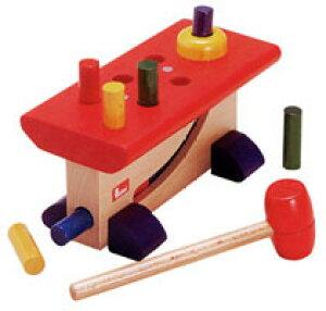 nic ニック社 ハンマートイ 大工さん(ハンマー遊び 叩くおもちゃ 木製 木のおもちゃ ドイツ製) 児童館