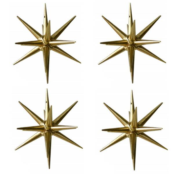 【 金の星 (大)箱入り4ヶセット】 ERZ 箱入り4ヶセット ドイツ ERZ アルビンプライスラー 【正規輸入品】 クリスマス ツリー