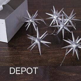 【銀の星(小)箱入り6ヶセット】木製 クリスマス ツリー オーナメント ドイツ エルツ地方(ERZ) アルビンプライスラー 【正規輸入品】