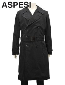 アスペジ  ASPESI 国内正規品 メンズ トレンチコート サーモア中綿ライナー付 中綿キルティング アウター M-50 フィールドジャケット ブラック