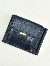 フェリージ  国内正規品 915/2/SA メンズウォレット マネークリップ ブルー クロコダイル 型押しレザー 2つ折り財布