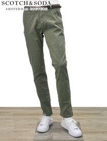 SCOTCH&SODA スコッチ&ソーダ 国内正規品 メンズ スリムフィットジーンズ 綿パン ベルト付き ストレッチ カッコいい 細い ミリタリー 5ポケット