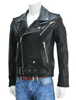 e32da8729d2 Product made in man s looks blouson Italy which is slim   soft touch of  riders jacket (double) bell Ted made of mer Shah MUSHER black color  Boletopsis ...