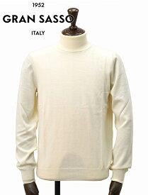グランサッソ  GRAN SASSO アイボリー エクストラファインウール ハイゲージロールネックニット タートルネック イタリア メンズセーター 19秋冬 でらでら 公式ブランド