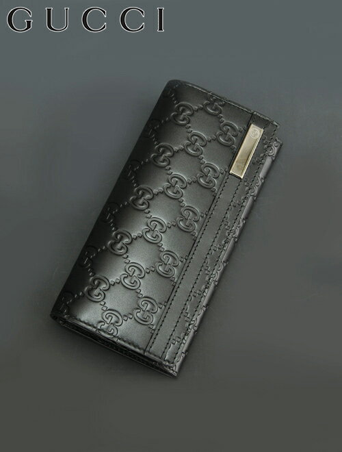 グッチ  Gucci 233112 cwc1r グッチシマ ブラック 小銭入れ付き グッチの長財布 メンズ プレゼント