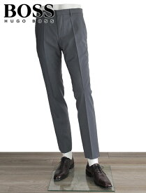 ヒューゴボス  HUGO BOSS メンズ スラックス Genesis-4 グレー サマーウール100% トラベラー ドレスパンツ 19春夏 ※股下数値要確認