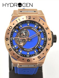 HYDROGEN WATCH  ハイドロゲン 国内正規品 メンズ ウォッチ VENTO ヴェント ピンクゴールド ブルーベルト オートマティック スケルトン オープンワーク シリコンバンド 自動巻 腕時計 機械式 でらでら 公式ブランド