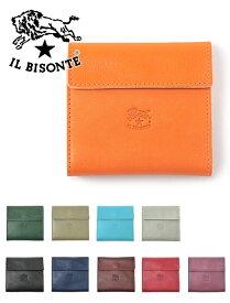 イルビゾンテ  IL BISONTE c0455 メンズ レザーウォレット 二つ折り財布 Giotto ジオット 小銭入れ付き コンパクト レザーウォレット レディース兼用 プレゼント でらでら 公式ブランド