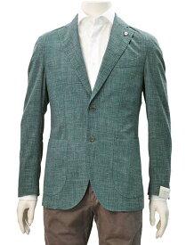 【クリアランスSALE半額】L.B.M 1911  エルビーエム 国内正規品 メンズ カジュアル サマージャケット グリーン ウール混紡リネン シングル 2B 色落ち スリムフィット ラペルピン でらでら 公式ブランド
