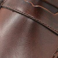 パラブーツPARABOOT[CORAUX/コロー][ブラウン]サドルの縫製で靴の屈強さを物語るオイルレザー製コインローファー[LISAMERICA][ペニー]