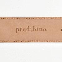プレディビーノPredibino[ブラック]控えめな光沢感イタリア製レザーベルト