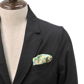 フェルッチ ミラノ  FERRUCCI 23-PALMA ヤシの木が海の爽やかさを彷彿とさせる リネンチーフ ポケットチーフ メンズ ドレスシーンにオススメ でらでら 公式ブランド