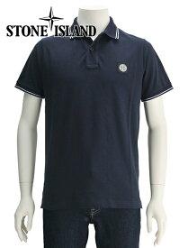 ストーンアイランド  STONE ISLAND 国内正規品 メンズ 701522s18-20 鹿の子ポロシャツ ブラック 2つボタン ワッペン風パッチ スリムフィット 681522s18と同品番 でらでら 公式