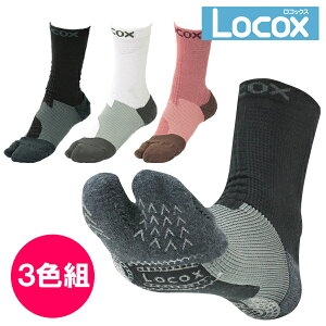 (正規販売店) Locox バイタルウォークフットサポーター 3色組 ロコックス オリジナルブランド 通販 靴下 (PB)