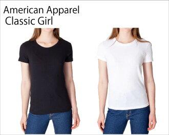American Apparel 아메리칸 어 패 럴 Classic Girl 클래식 여자 무지 T 셔츠 아 메 아파