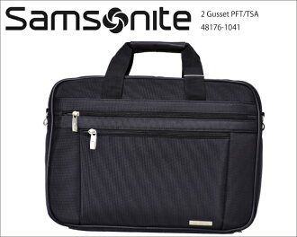 新秀丽 Samsonite 2 扣 PFT/TSA 袋黑色黑色公文包商务袋 48176 1041