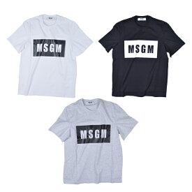 MSGM エムエスジーエム /PANEL T-SHIRT 2640MM67 カットソー Tシャツ ロゴ メンズ