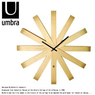 UMBRA 앤 브라 RIBBON WOOD WALL CLOCK 리본 우드 벽 시계 118071-390 벽 시계