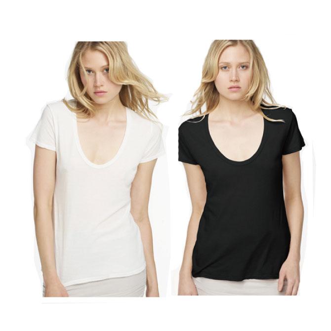 ジェームスパース tシャツ uネック レディース 半袖 白 メール便 送料無料 JAMES PERSE S/S RELAXED CASUAL WMJ3449 【西日本】