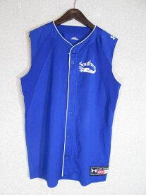 メール便 168円 UNDER ARMOUR アンダーアーマー ベースボールシャツ ブルー M【中古】【メンズ】【MEDIUM】