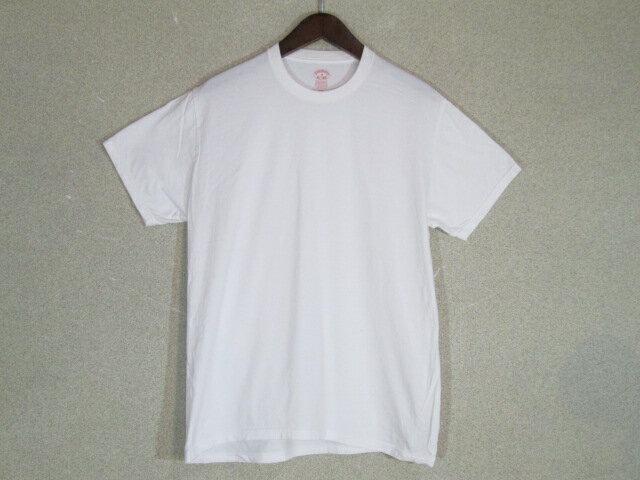 Brooks Brothers ブルックスブラザーズ クルーネック Tシャツ ホワイト M【メンズ】【MEDIUM】