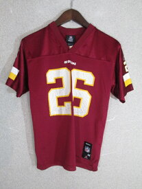 ネコポス可能 Reebok リーボック NFL ワシントン・レッドスキンズ Clinton Portis #26 ゲームシャツ youth M【中古】