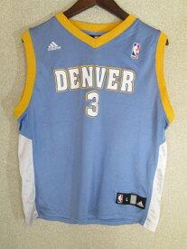 メール便165円 ADIDAS アディダス NBA デンバー・ナゲッツ アレン・アイヴァーソン #3 ゲームシャツ youth L【中古】