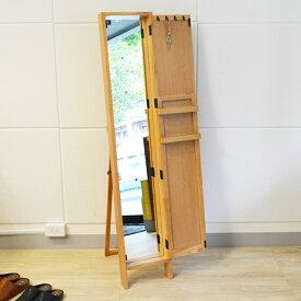 【レビュー特典あり】 ミラー スタンド 全身 鏡 姿見 壁面 玄関 ナチュラル リビング 化粧 高品質 扉付き POCOスタンド 【送料無料】