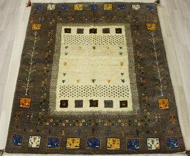 ペルシャ製ギャッベ 手織りラグマット ペルシャギャベ BT1500 (Y) 約148×196cm ブラウン系 ウールカーペット ウールラグ ウール100%