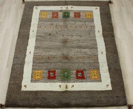 ペルシャ製ギャッベ 手織りラグマット ペルシャギャベ BT2043 (Y) 約150×200cm ブラウン系 ウールカーペット ウールラグ ウール100%