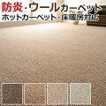 ウールカーペット天然素材ラグカーペットホットカーペット対応じゅうたん日本製絨毯三畳3畳3帖176×261cmオペラ(グランデ)(N)